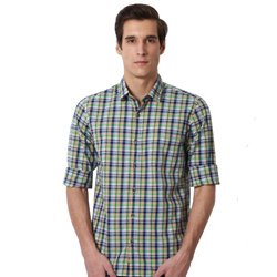 Off-Duty Checkered Peter England Shirt