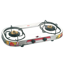 Superb Nirlep Rust Proof 2 Burners Gas Top with Rotating Nozzle