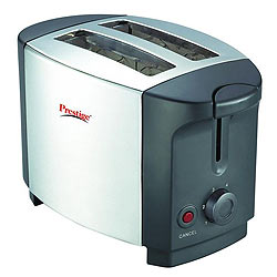 Impressive Prestige Popup Toaster Stainless Steel in <br>Silver with Gray