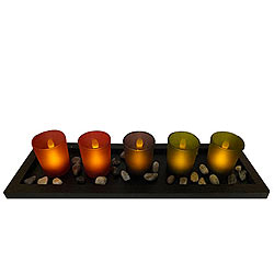 Brightness of Love Candles on a Tray