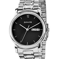 Black dial gents watch from Sonata
